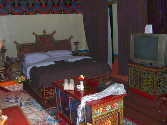 The Suite Room in the Dhudgu hotel, Lhasa, Tibet